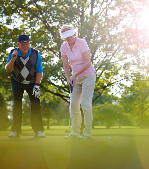 Practice de golf