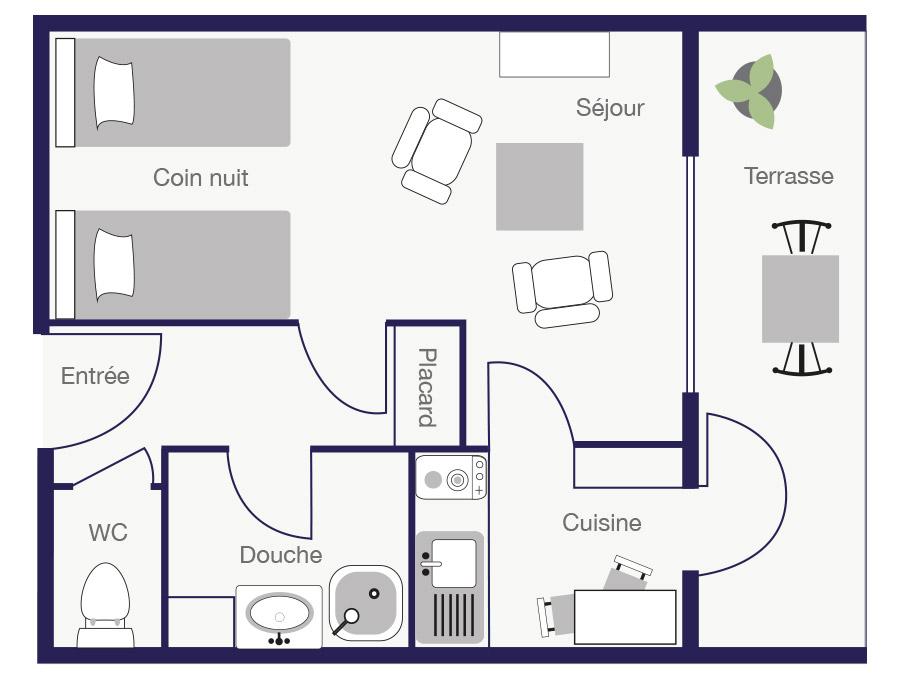 Résidence Appartement 26m2