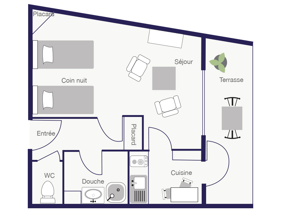 Résidence Appartement 28m2