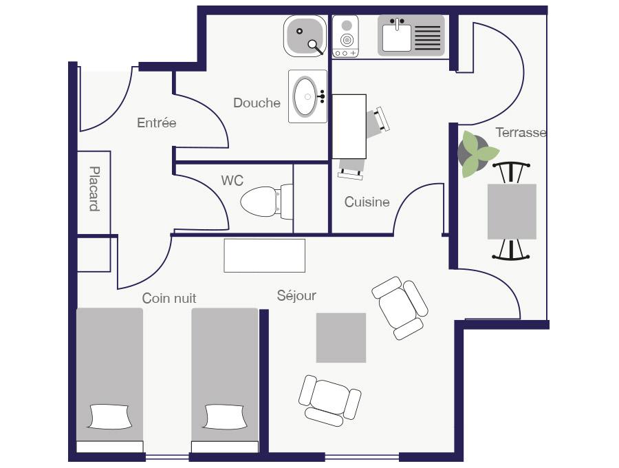 Résidence Appartement 28m2-2